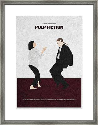 Pulp Fiction 2 Framed Print by Ayse Deniz