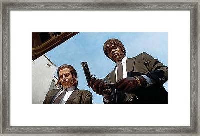 Pulp Fiction Artwork 1 Framed Print by Sheraz A