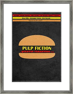 Pulp Fiction Framed Print by Ayse Deniz