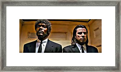 Pulp Fiction Framed Print by Florian Rodarte