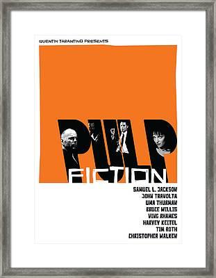 Pulp Fiction Poster Framed Print by Geraldinez