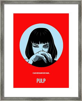Pulp Fiction Poster 3 Framed Print by Naxart Studio
