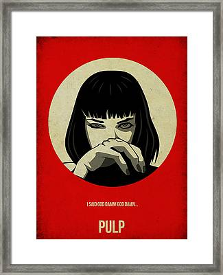 Pulp Fiction Poster Framed Print by Naxart Studio