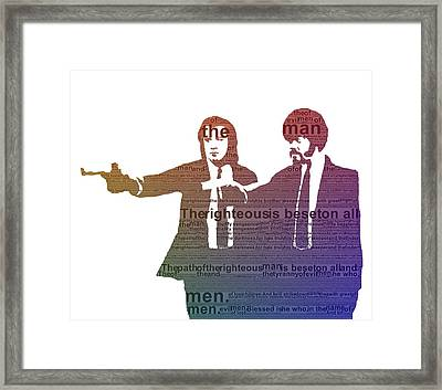 Pulp Fiction Typography Framed Print by Dan Sproul