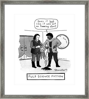 Pulp Science Fiction Framed Print by Danny Shanahan