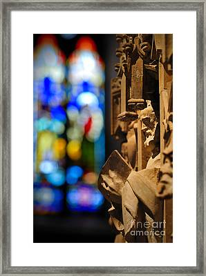 Pulpit Trinity Cathedral Pittsburgh Framed Print by Amy Cicconi