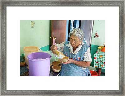 Pulque Production Framed Print by Jim West