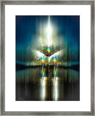 Pulsar Ignition Framed Print