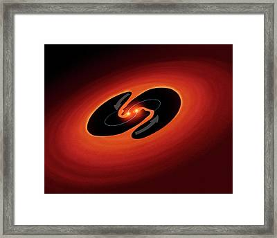 Pulsating Object Lrll 54361 Framed Print by Nasa/esa/jpl-caltech