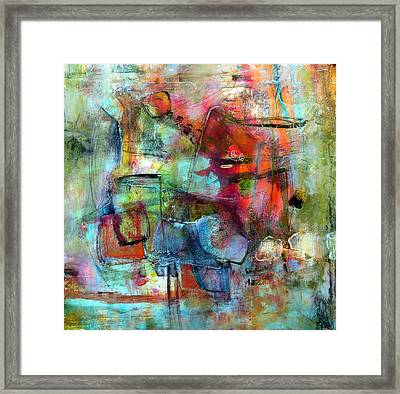 Framed Print featuring the painting Pulse by Katie Black
