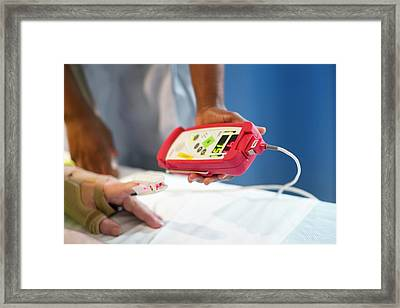Pulse Oximeter Framed Print by Life In View
