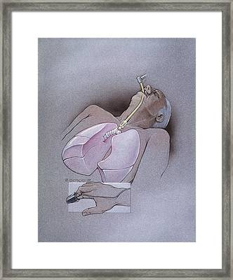 Pulse Oximetry And Intubation Framed Print by Bob L. Shepherd