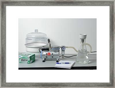 Pump And Vacuum Desiccator Framed Print