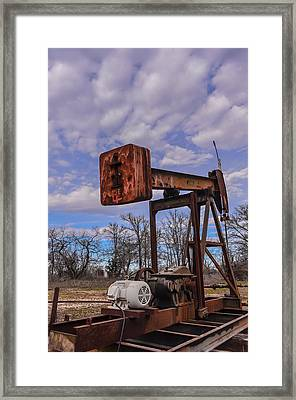 Pump Jack Framed Print by Kelly Kitchens