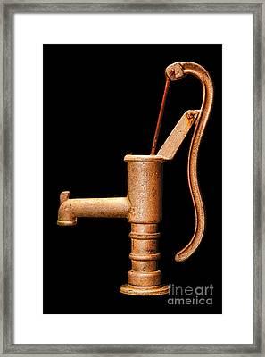 Pump Framed Print by Olivier Le Queinec