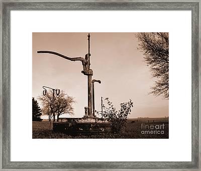 Pump3 Framed Print