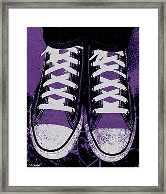 Pumped Up Purple Framed Print by Ed Smith