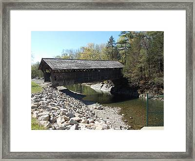 Pumping Station Covered Bridge Framed Print by Catherine Gagne