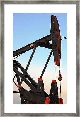 Pumpjack Framed Print