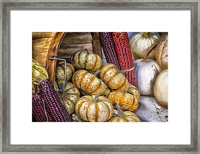 Pumpkin Basket Framed Print