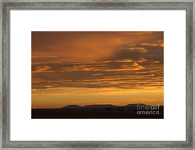 Pumpkin Buttes At Sunrise Framed Print