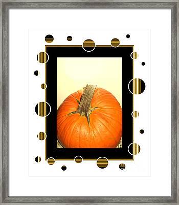 Pumpkin Card Framed Print