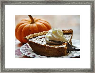 Pumpkin Delight Framed Print