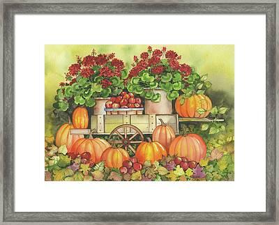 Pumpkin Display Framed Print by Kathleen Parr Mckenna
