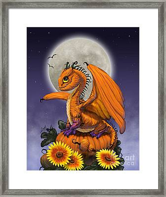 Pumpkin Dragon Framed Print
