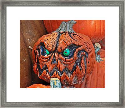 Pumpkin Face Framed Print