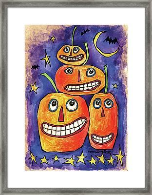 Pumpkin Family Framed Print by Anne Tavoletti