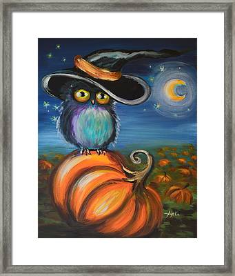 Owl Bewitch You Framed Print by Agata Lindquist
