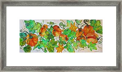 Pumpkin Harvest Time Framed Print