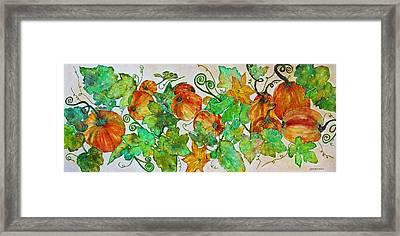 Pumpkin Harvest Time Framed Print by Janet Immordino