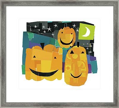 Pumpkin Lanterns II Framed Print