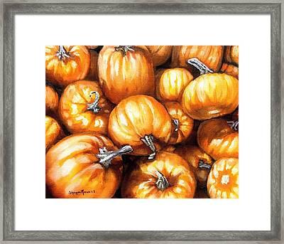 Pumpkin Palooza Framed Print by Shana Rowe Jackson