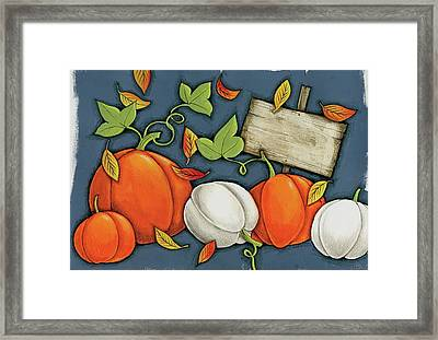 Pumpkin Patch Framed Print by Anne Tavoletti