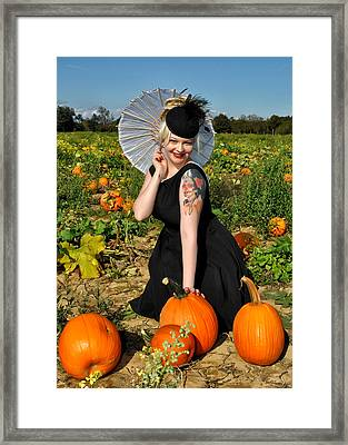 Pumpkin Patch Framed Print by Jim Poulos