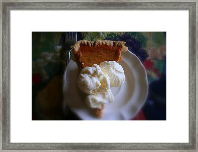 Pumpkin Pie A' La Mode Framed Print