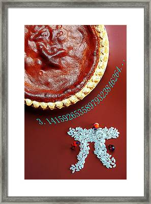 Pumpkin Pie And Pi Food Physics Framed Print