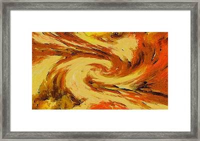 Pumpkin Pie Portal Framed Print by Dan Sproul