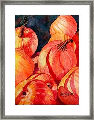 Pumpkin Pile Framed Print by Ruth Bodycott
