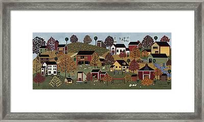 Pumpkin Season Framed Print by Medana Gabbard