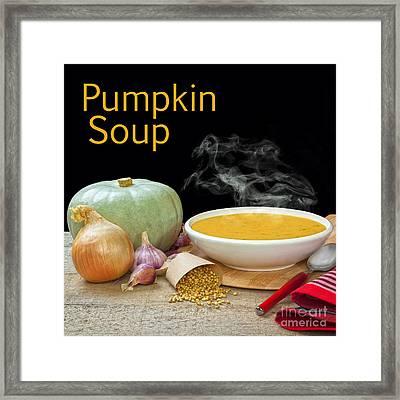 Pumpkin Soup Concept Framed Print