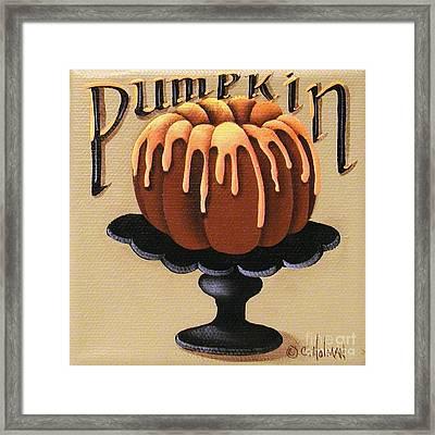 Pumpkin Spice Cake Framed Print
