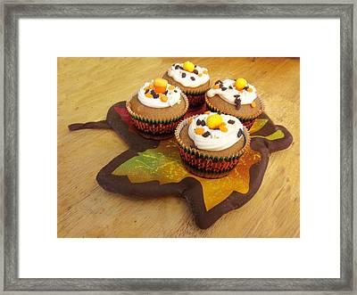 Pumpkin Spice Cupcakes Framed Print by Rosalie Klidies