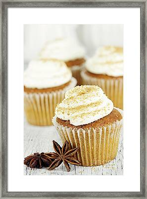 Pumpkin Spice Cupcakes Framed Print by Stephanie Frey