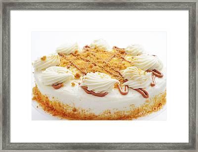 Pumpkin Spice Drizzle Cake 4 Framed Print