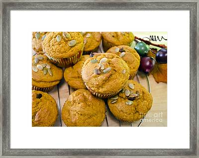 Framed Print featuring the photograph Pumpkin Spice Muffins For Fall by Maria Janicki
