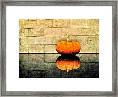 Pumpkin Still Life Framed Print